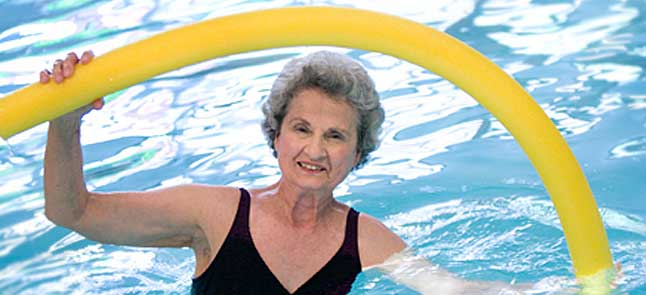 Swimming at Kisco senior living