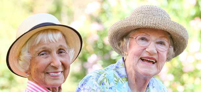 Ladies enjoying friendship at Kisco senior living
