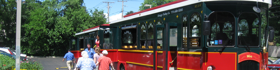 Trolley Car in Clarendon Hills