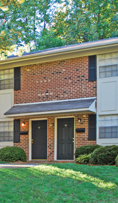 Knollwood Townhouse Apartments in Burlington available for rent.