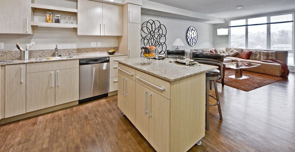 Apartments with modern kitchen amenities in Seattle