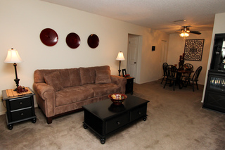 Village green model living room 104