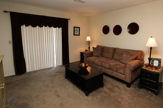 Village green model living room 112