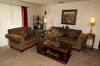Village green model living room 115