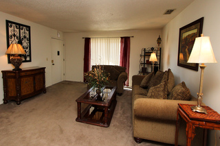 Village green model living room 116