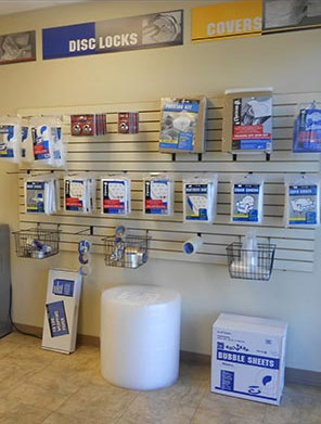 Aarons Self Storage offers moving supplies