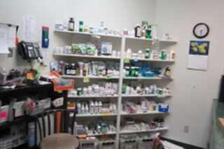 Our on-site pharmacy is available for your cats needs