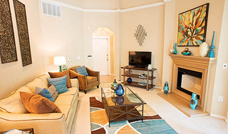 Living room at apartments in Richardson