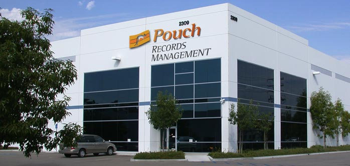 Pouch Records Management building in California
