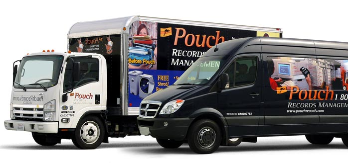 Pouch Records Management in Fullerton moving fleet