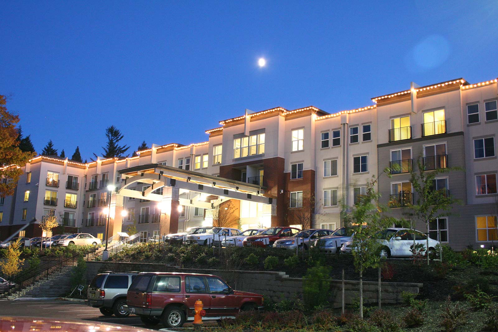 Exterior view of our senior living community in Portland