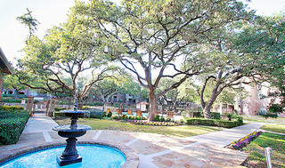 Community fountain at san antonio apartments