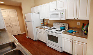 Luxury kitchen at apartments in san antonio