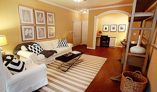 Spacious living room apartments in san antonio