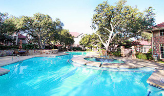 Swimming pool at apartments in san antonio
