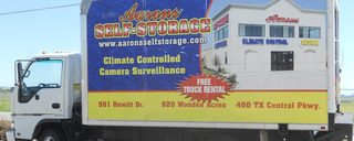 Waco self storage customers are provided a moving truck