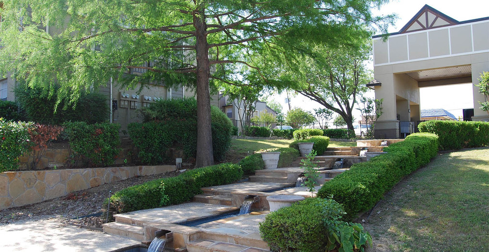 Waterfall garden at irving apartments