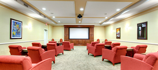 Theater room cary parkway waltonwood luxurious