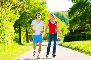 Guelph apartment residents jogging
