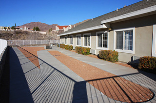 Fenced walking area yard el paso tx senior living