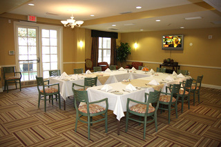 Dining area senior living plano tx