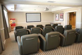 Senior living plano tx theater room