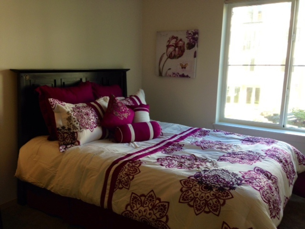 White and Pink Bed