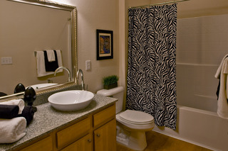 Apartments in Lafayette have elegant guest bathrooms
