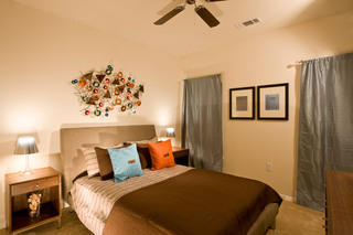 Lafayette apartments have open guest bedrooms