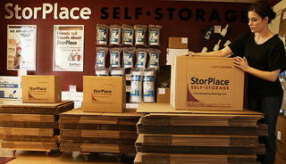 Moving supplies for sale at our Franklin self storage units