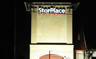 Hendersonville self storage at night
