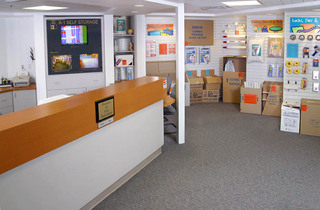 The office at our storage units in San Diego