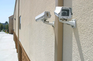 Security cameras at Lake Forest self storage