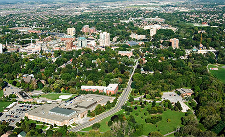 View of the city of Brampton