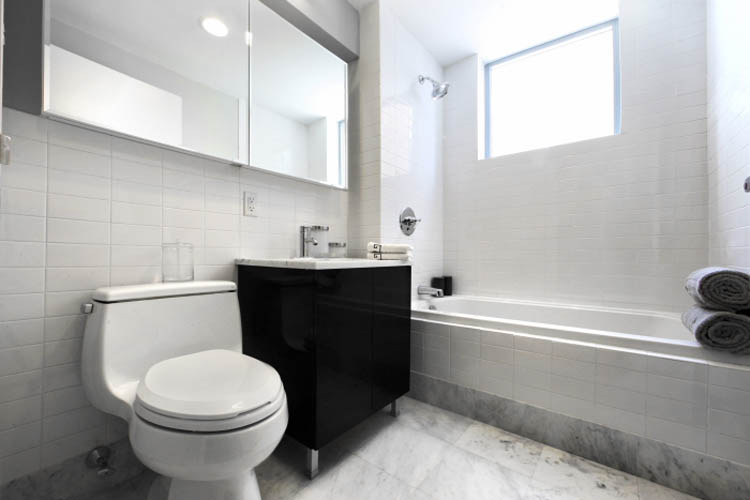 Bathroom at luxury apartments in brooklyn