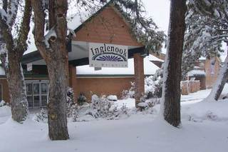 Brighton senior living entrance in winter