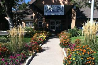 Senior living brighton entrance in spring