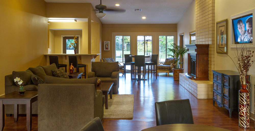 Clubhouse is spacious at apartments in Sacramento