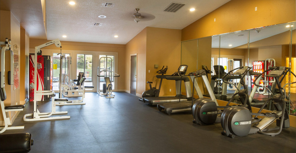 Convenient fitness center at apartments in Sacramento