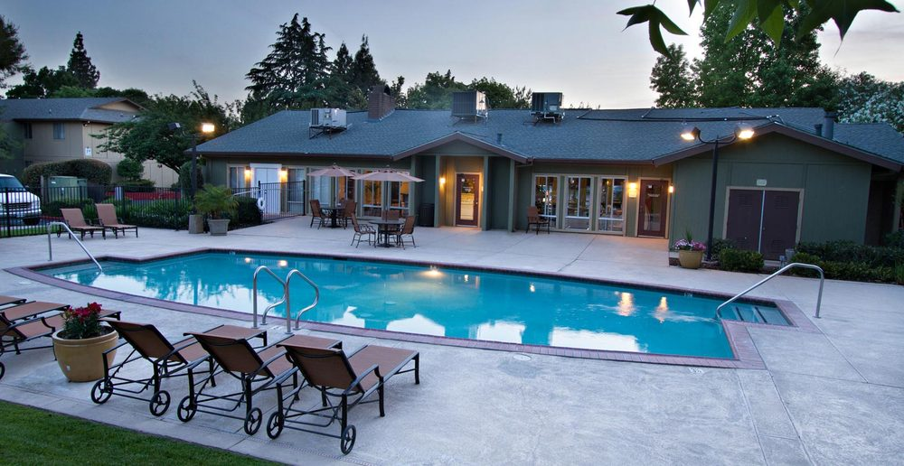 Refreshing swimming pool at apartments in Sacramento