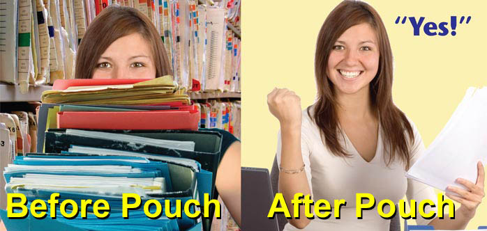 Prm before and after Pouch Records Management