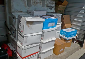 Pouch Business Records in Self Storage
