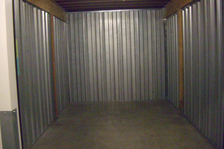 Self storage unit interior in portland