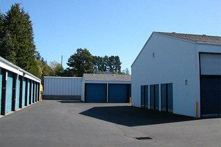 Self storage building exteriors in coos bay
