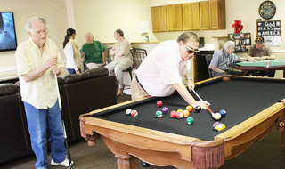 Residents billiards northlake senior living