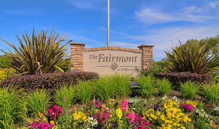 Luxury apartments in fairmont entrance