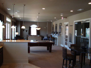 Clubroom at evans apartments