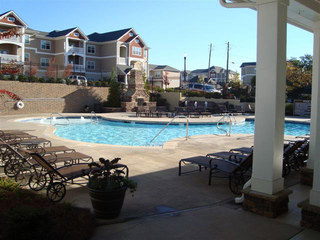 pool at evans apartments