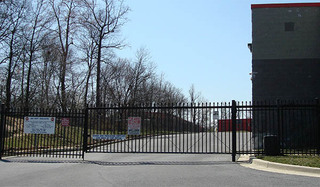 Self storage security gate in laurel