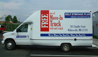 Moving truck at self storage in walkersville